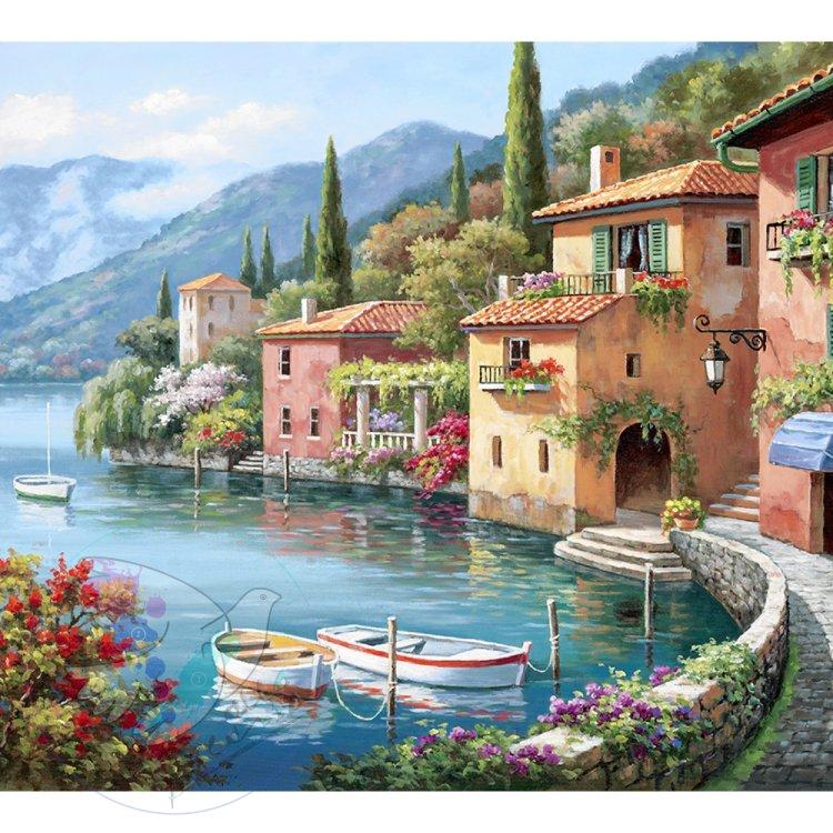 Постер картины итальянские пейзажи нее развитая